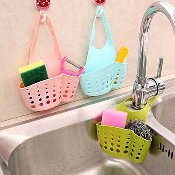 Portable Home Hanging Drain Bag Basket Bath Storage - 88digital