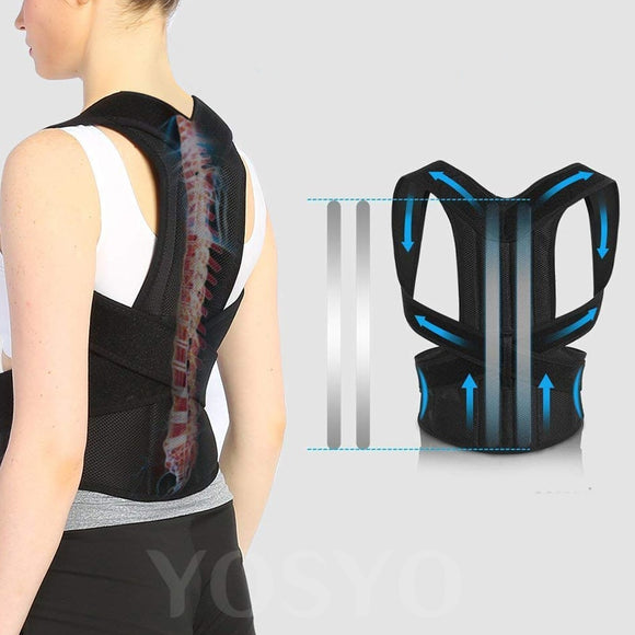 Posture Corrector for Men and Women Back Posture Brace Clavicle Support Stop Slouching and Hunching Adjustable Back Trainer - 88digital
