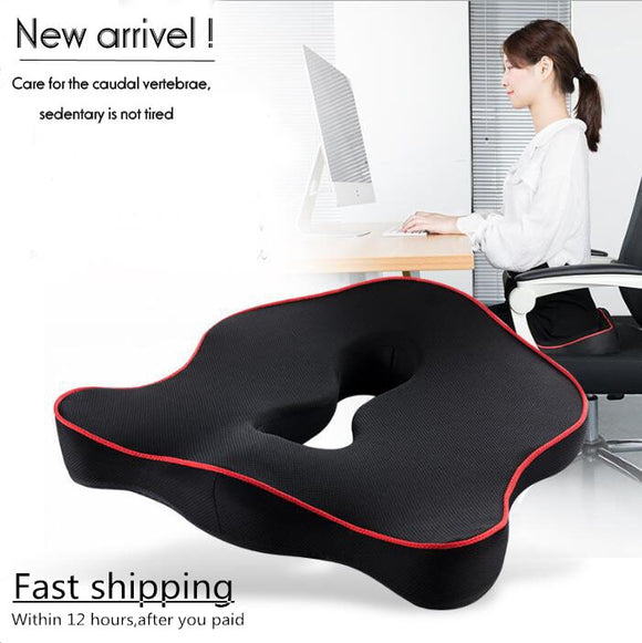 Premium Memory Foam Seat Cushion Coccyx Orthopedic Car Office Chair Cushion Pad for Tailbone Sciatica Lower Back Pain Relief - 88digital