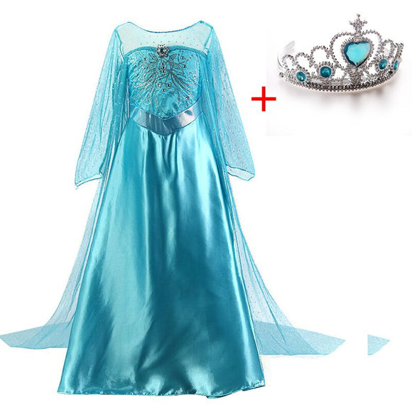 Princess Dress For Girls Princess Elsa Dress Cosplay Kid Fancy Halloween Party Princess Costume Cosplay Christmas Girls Dresses - 88digital