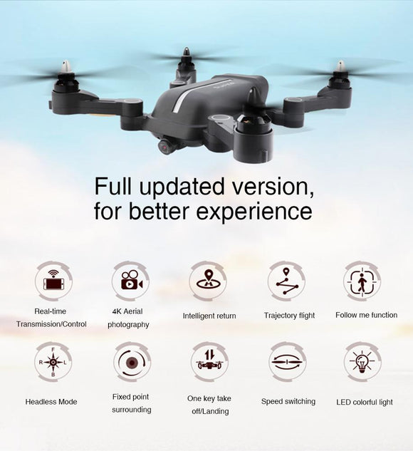 Professional photography RC airplane fpv Gyro drone 4k gps wifi hd camera long range aerial rc drone with follow me