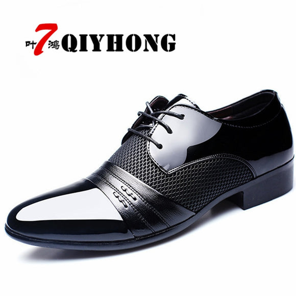 Leather Dress Shoes Men Casual Oxfords Pointed Toe Business Formal Office Work
