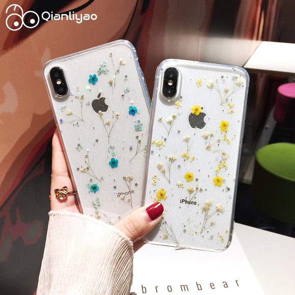 Real Dried Flowers Transparent Soft Cover For iPhone 11 Pro Max Phone Case For iphone Cover - 88digital