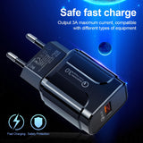 Quick Charge 3.0 18W Qualcomm QC 3.0 4.0 Fast charger USB portable Charging Mobile Phone Charger For iPhone Samsung Xiaomi - 88digital