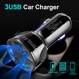 Quick Charge 3.0 Car Charger For Mobile Phone Usb Car Charger Qualcomm Qc 3.0 QC 4.0 2.1A Fast Charging Adapter Usb Car Charger - 88digital