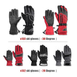 Ski Gloves Motorcycle Waterproof Fleece Thermal Gloves Snowboard Snowmobile Gloves Men Women Winter Snow Gloves Male - 88digital