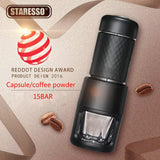 STARESSO Second generation 15BAR Italian Concentrate Coffee machine Manual Capsule/coffee powder Portable outdoor coffee pot - 88digital
