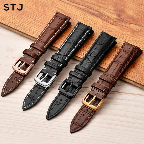 Leather Watchband 18mm 19mm 20mm 21mm 22mm 24mm Women Men Strap for Tissot Seiko Watch Band Accessories wristband - 88digital
