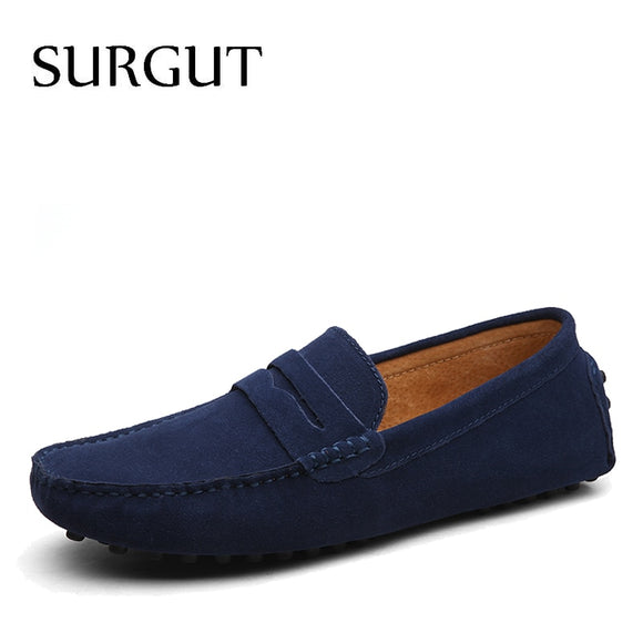 SUGRUT Brand Summer High Quality Soft Flat Shoes Male Casual Driving Shoes Slip On Lazy Men Flats Moccasins Loafers Size 38~50 - 88digital