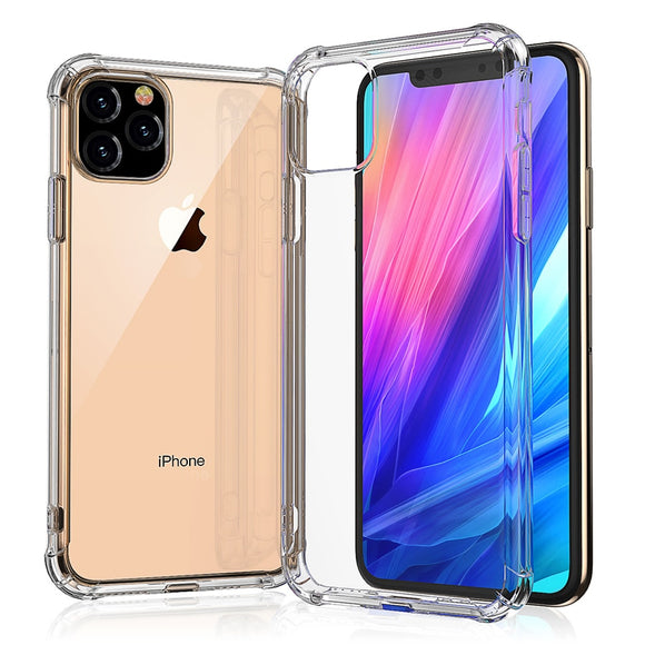 Shockproof Silicone Phone Case For iPhone 11  11 pro Max Cases Transparent Protection Back Cove - 88digital