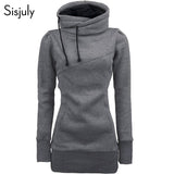 Sisjuly women hoodie sweatshirt solid hooded long sleeve pullover hoodies drawstring plus size 4XL fashion female spring hoodie - 88digital