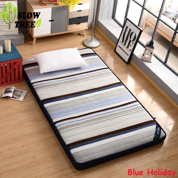 Slow Tree Flannel Mattress Thicken10cm Foldable Queen Bed Mat Home Tatami Bedroom Furniture Single/Double Mattress Floor Mat - 88digital