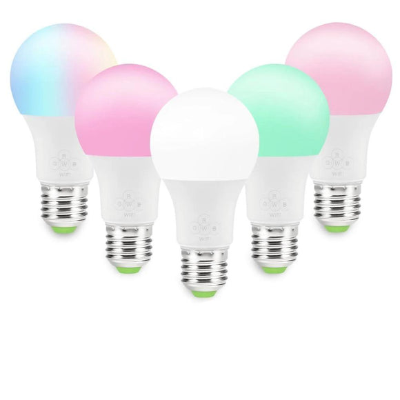 Smart WiFi Light Bulb 4.5W/ 7W RGB Magic Light Bulb Lamp Wake-Up Lights Compatible with Alexa and Google Assistant