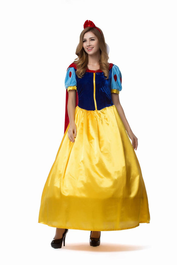 Snow White Dress Cosplay Halloween For Women Adult Fantasia Carnival Party Princess Fairy Tale Storybook Cosplay Fancy Dress - 88digital