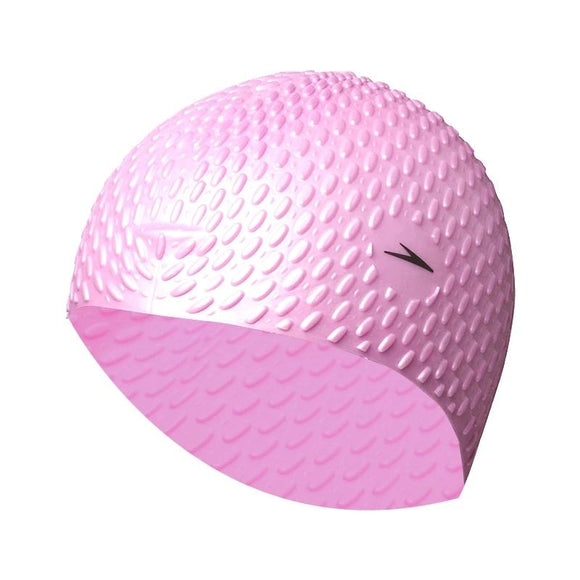 Speedo Fitness Training 100% Silicone Bubble Cap Particle Swimming Caps For Women Or Men Long Hair Keep Warm Ear Protection - 88digital