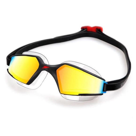 Speedo MultiColored Aquapulse Max Mirror 2 IQfit Goggle Anti Fog HD Lens UV Protection For Adult Men's Women's - 88digital