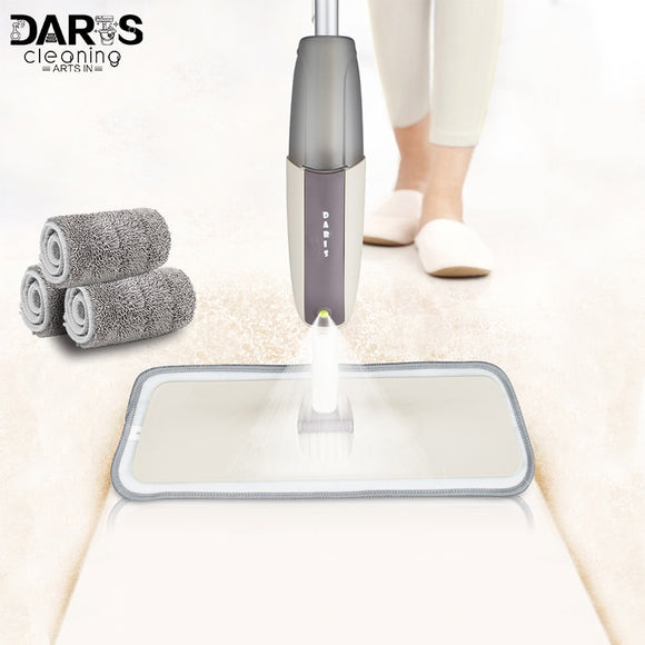 Spray Mop With Reusable Microfiber Pads 360 Degree Metal Handle Mop for Home Kitchen Laminate Wood Ceramic Tiles Floor Cleaning - 88digital
