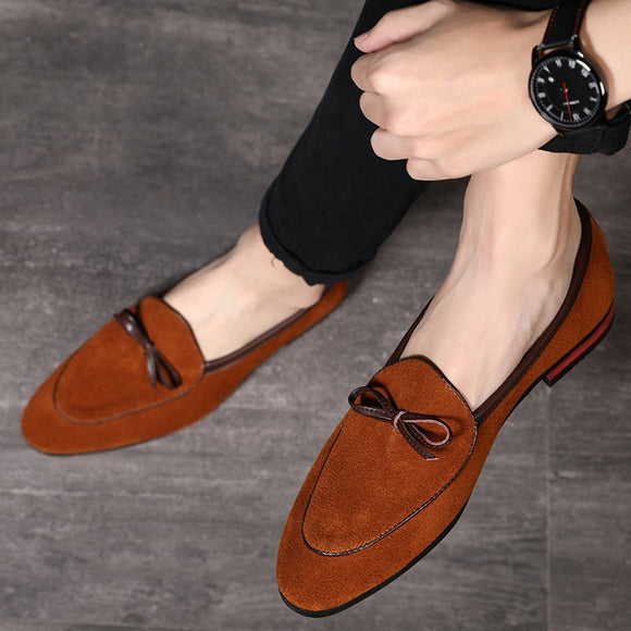 Spring Men's Tassel Suede Loafers Italian Style Scrub Leather Slip-On Casual Men Shoes Gentleman Fashion Designer Shoes - 88digital