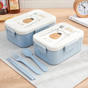 TUUTH Cute Cartoon Lunch Box Microwave Dinnerware Food Storage Container Children Kids School Office Portable Bento Box USA - 88digital