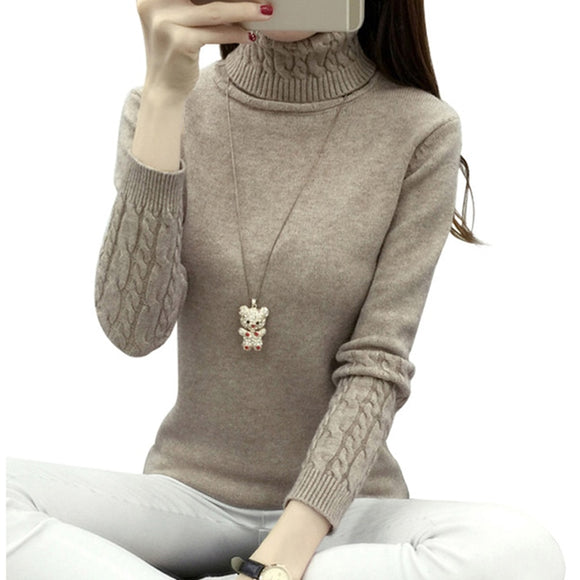 Thick Warm Women Turtleneck Winter Women Sweaters And Pullovers Knit Long Sleeve Cashmere Sweater Female Jumper Tops - 88digital