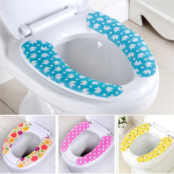 Toilet Seat Cover Soft WC Paste Toilet Seat Pad Mat Washable Bathroom - 88digital