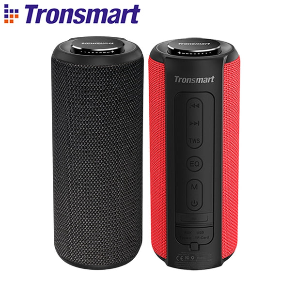 Tronsmart T6 Plus Bluetooth Speaker 40W Portable Speaker Deep Bass Soundbar with IPX6 Waterproof, Power Bank Function SoundPulse - 88digital