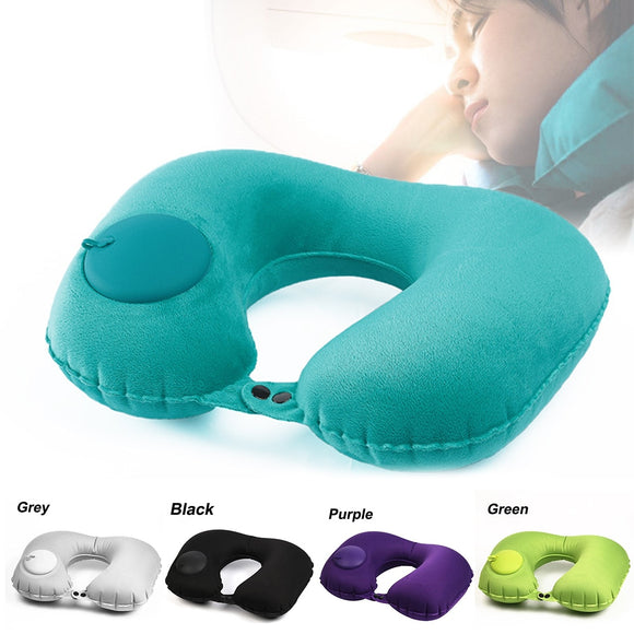 U-Shape Inflatable Travel Pillow Neck Pillow Car Head Rest Air Pillows Cushion for Travel Office Nap Head Rest Air Neck Cushion USA - 88digital