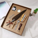 Calligraphy Feather Dip Pen Writing Ink Set Stationery Gift Box with 5 Nib Wedding Gift Quill Pen Fountain Pen