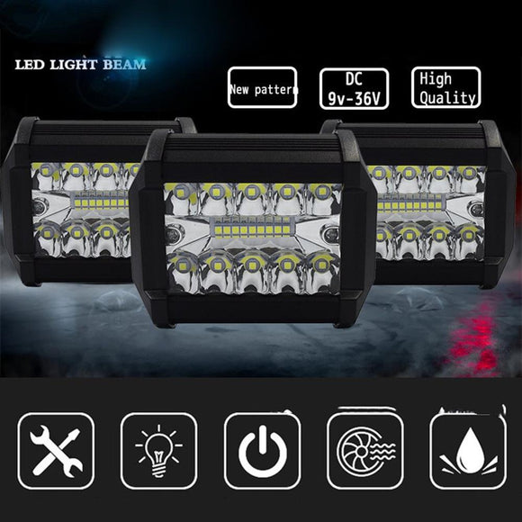 Universal Car LED Work Light Automative Three Rows Three Eye Working Lights 4 Inch Car LED Work Light - 88digital