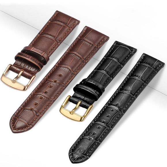 Universal Replacement  Leather Watch Strap Leather Watchband for Men Women 12mm 14mm 16mm 18mm 19mm 20mm 21mm 22mm Watch Band - 88digital