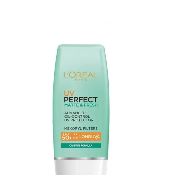 L'Oreal Paris UV Perfect Matte & Fresh SPF 50 Face Wash Oil Remover for Oily Skin Care