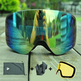 Ski Goggles Double Lens UV400 Anti-fog Women Men Snowboard Skiing Glasses Snow Eyewear With Additional Lens - 88digital