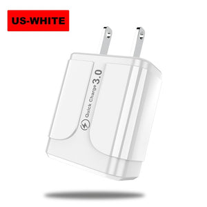 Vanniso 5V 3.1A 18W Quick charge 3.0 Fast Charger for iphone X Samsumg S8 A50 Huawei Xiaomi note 8 qc3.0 Smartphone Wall Adapter - 88digital