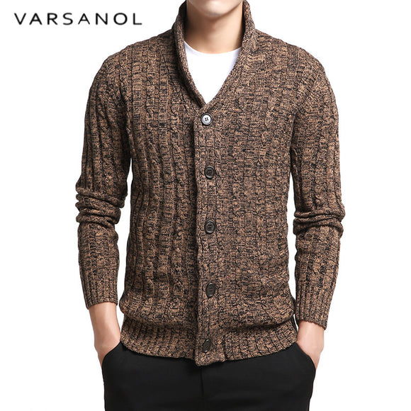 Sweater Men V-Neck Solid Slim Fit Knitting Mens Sweaters Cardigan Male Autumn Fashion Casual Tops Hots - 88digital