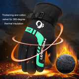 Warm Ski Gloves For Men Winter Outdoor Sports Motorcycle Riding Equipment Windproof Thickening Snowboard Ski Thermal Gloves - 88digital