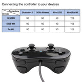 White/Black Classic Wired Game Controller Gaming Pro Remote Game Controller Gamepad For Nintendo Wii - 88digital
