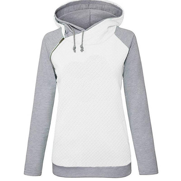Women Letter Embroidered Hoodie - 88digital