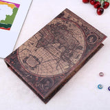 Wooden Storage Box Retro European Style World map Security Safe Book Cash Money Jewelery Organizer Box Caixa De Armazenamento - 88digital