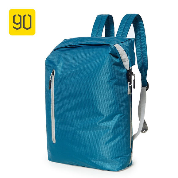 Xiaomi 90FUN Lightweight Backpack Foldable Bags Sports Travel Water Resistant Casual Daypack for Women Men 20L Blue/Black - 88digital