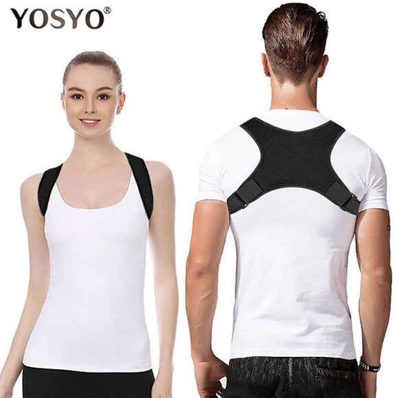 YOSYO Spine Posture Corrector Protection Back Shoulder Posture Correction Band Humpback Back Pain Relief Corrector Brace - 88digital