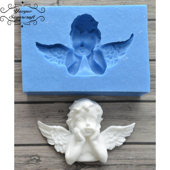 Angel Frame silicone mold fondant chocolate cake - 88digital