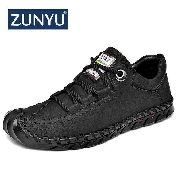 Men's Leather Casual Shoes Moccasins Men Loafers Luxury Brand Spring New Fashion Sneakers Male Boat Shoes Suede Krasovki - 88digital