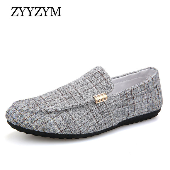 Men Casual Shoes 2019 Spring Summer Men Loafers New Slip On Light Canvas Youth Men Shoes Breathable Fashion Flat Footwear - 88digital