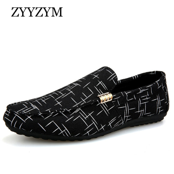 Men Loafers Men Shoes Casual Shoes 2019 Spring Summer Light Canvas Youth Shoes Men Breathable Fashion Flat Footwear - 88digital