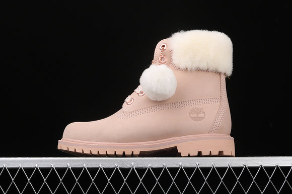 TIMBERLAND WOMEN Classic Light Taupe Nubuck Light Pink White 6 inch Premium Boots Waterproof TB0A2322K51