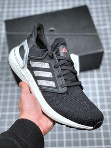 Adidas Ultra Boost Ultraboost 20 Consortium Core Black Cloud White Men's Running Shoes Sneakers EH1014