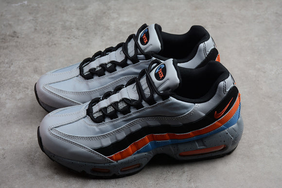 Nike AIR MAX 95 Essential Wolf Grey Safety Orange University Blue Men Shoes Sneakers Size 39-45 / 6.5-11 538416-015