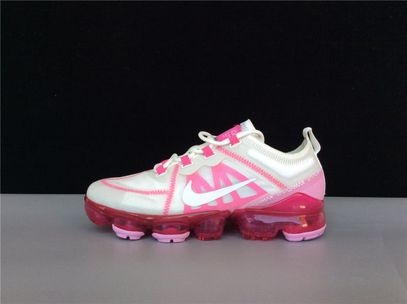 Nike Air Vapormax 2019 Summit White Laser Fuchsia Pink Rise Women Shoes Sneakers AR6632-105