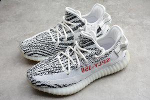 Adidas YEEZY BOOST 350 V2 Zebra White Core Black Red Men's Women's Running Shoes Sneakers CP9654