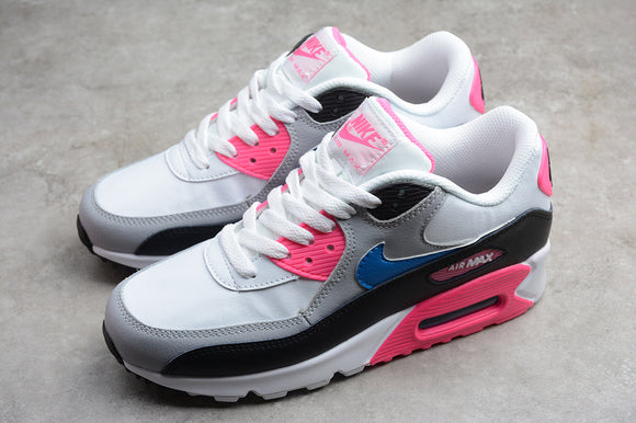 Nike AIR Max 90 Leather White Pink Blue Black Women Shoes Sneakers Size 36-40 / 5.5-8.5 833376-107